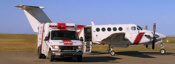 Fixed-wing Pilatus PC-12 PC-12-47E emergency medical aircraft based at or near Centennial Airport for med-evac and life-flight services may be listed in our database. Air ambulance is not a service we market as a core competency.