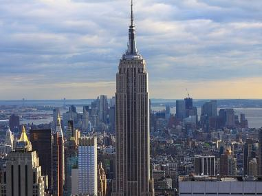 A view of the Empire State Building in New York