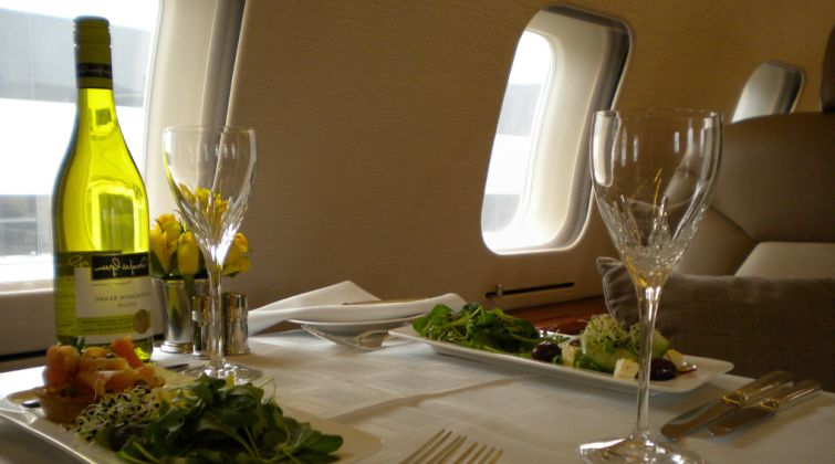 Catering is invoiced separately following each private jet itinerary.